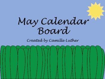 May Flower Calendar Bulletin Board