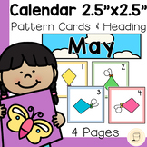 """May Calendar Cards - 2.5"""" x 2.5"""" - Free - Spring themed"""
