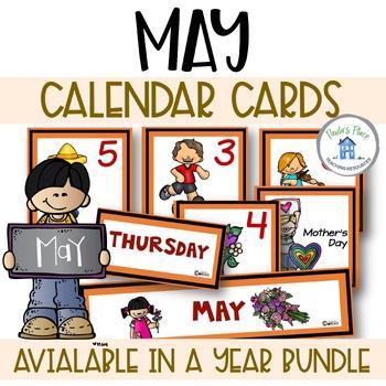May Calendar Cards