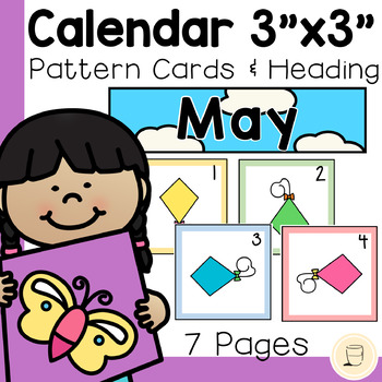 "May Calendar Cards - 3"" x 3"" - Free - Spring themed"