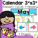 """May Calendar Cards - 3"""" x 3"""" - Free - Spring themed"""