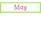May Calendar Cards ABB Pattern