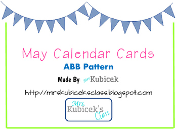 May Calendar Cards ABB Pattern
