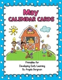 May Calendar Cards - FREEBIE