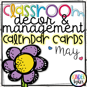 May Calendar Cards by Kinder Tykes