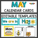 Pocket  Chart or Linear Calendar Cards for May