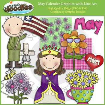 May Calendar Graphics