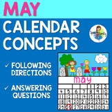 May Calendar Concepts: Following Directions & Answering Wh-Questions
