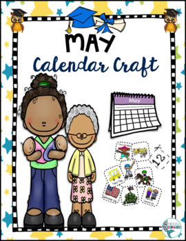 May Calendar Craft with Derby, Mother's Day, Cinco De Mayo icons and a topper!