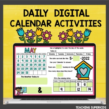 Math Meeting May Calendar Activities