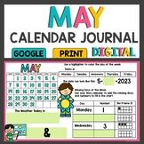 Math Meeting May Calendar Activities