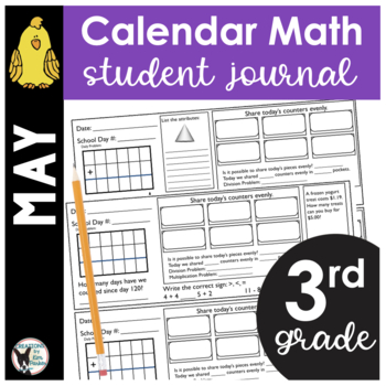 May Calendar Math Student Journal