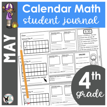 May Calendar Math Student Journal- 4th Grade Edition