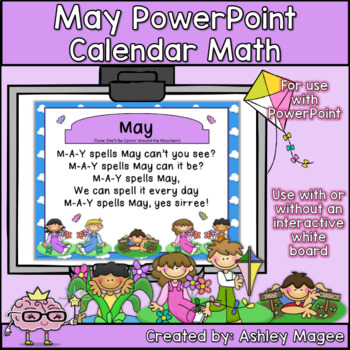 May Calendar Math - in PowerPoint - use with or without interactive board