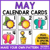 May Calendar Numbers