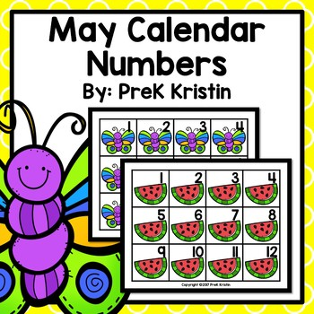 May (Spring Themed) Calendar Numbers