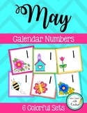 May Calendar Numbers (6 sets)