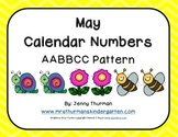 May Calendar Numbers AABBCC Pattern