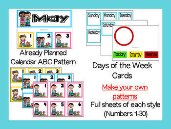 May Calendar Numbers or Math Station Number Cards