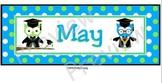 May Calendar Owls