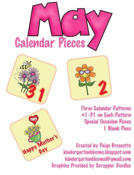 May Calendar Packet