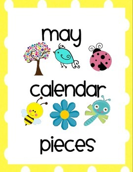 May Calendar Pieces