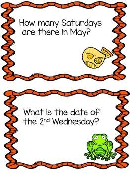 May Calendar Questions