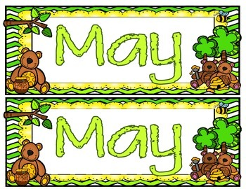 May Calendar Set Freebie