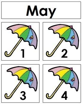 May Calendar Tags