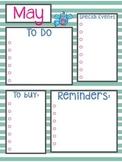 May Calendar & To Do List