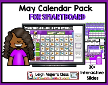 2018 May Calendar and Math Pack for Smartboard