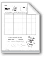 May Calendar and May Day Activities