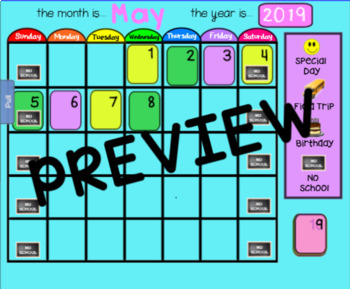 May Calendar for Smartboard