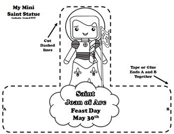 May Catholic Saint Calendar Activities - Saint Joan of Arc