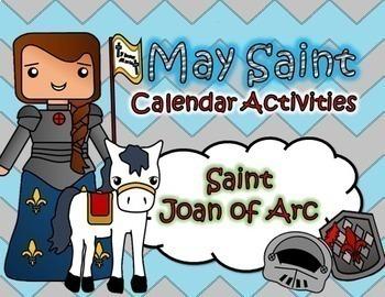 May Catholic Saint Calendar Activities - Saint Joan of Arc