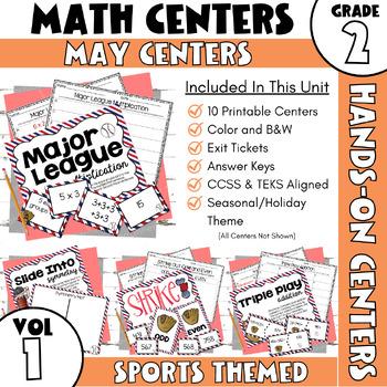 May Centers--2nd Grade MATH