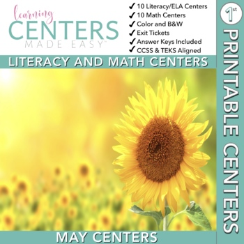 May Centers--First. Grade ELA and MATH