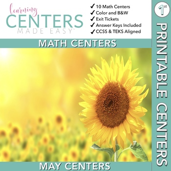 May Centers--First Grade MATH