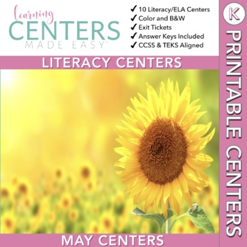 May Centers--Kindergarten ELA