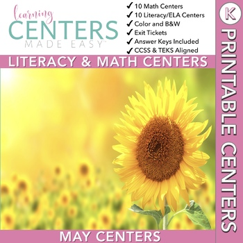 May Centers--Kindergarten ELA and MATH