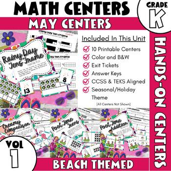 May Centers--Kindergarten Math