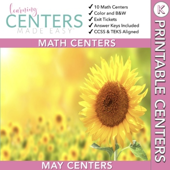 May Centers--Kindergarten Math