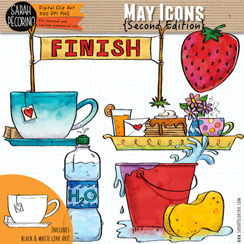 May Clip Art {Second Edition}