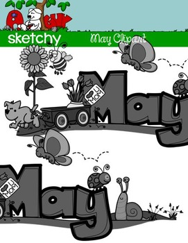May Clipart / Graphics and Monthly Header