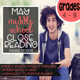 Reading Comprehension Passages and Questions-May