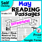 Reading Comprehension Passages and Questions - May