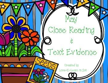 May Close Reading Freebie