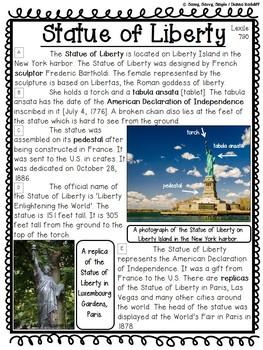 Close Reading: American Symbols {Standards Based}