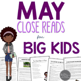 May Close Reads for BIG KIDS Common Core Aligned