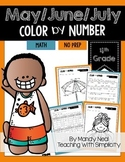 May Color By Number for 4th Grade Math